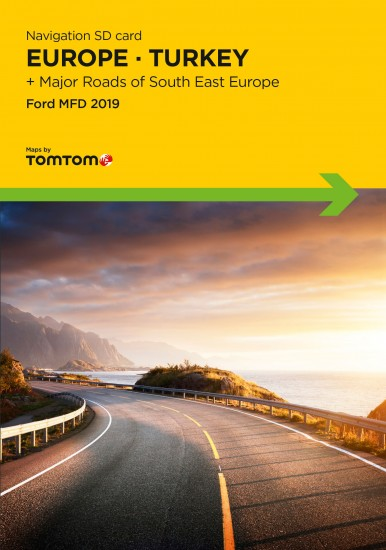 Ford MFD Navigation SD Card Europe 2019