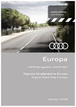 Audi Navigation MMI 2G DVD Europe 2018