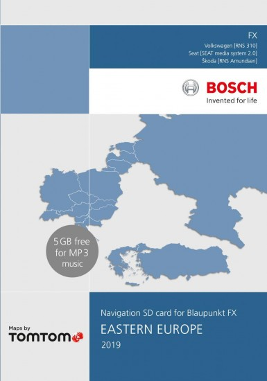 VW RNS 310 Navigation SD 8GB Eastern Europe 2019 V10